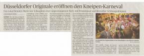 Düsseldorfer Originale eröffnen den Kneipen-Karneval