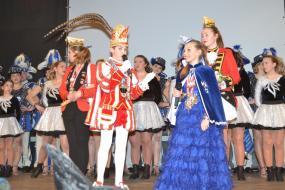Toller Empfang beim Kinderkarneval der Prinzengarde Blau-Weiß