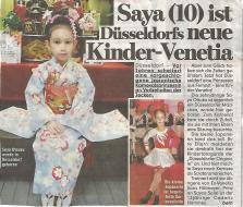 Saya (10) ist Düsseldorfs neue Kinder-Venetia