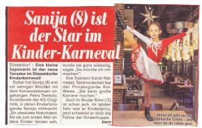 Saya (8) ist der Star im Kinder-Karneval