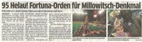 95 Helau! Fortuna-Orden für Millowitsch Denkmal