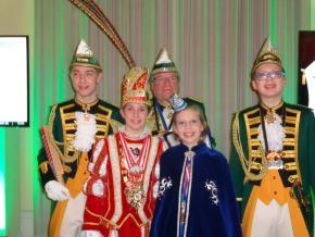 Mit dem Kinderprinzenpaar beim Neujahrsempfang der Ehrengarde