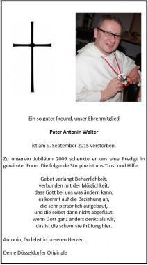 Wir Originale trauern um Pater Antonin