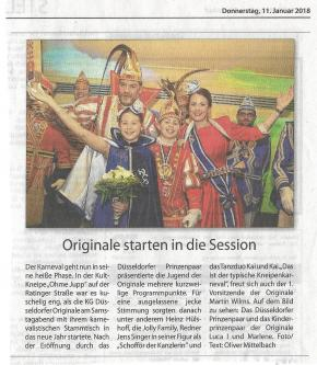 Originale starten in die Session