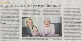 Originale: Ursula Hofer löst Pepe Therkatz ab