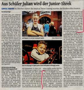 Aus Schüler Julian wird der Junior-Shrek