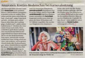 Amazonen: Kostüm-Modenschau bei Karnevalsitzung
