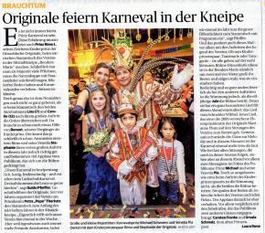 Originale feiern Karneval in der Kneipe