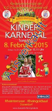 Kinderkarneval am 08.02.2015 ist ausverkauft!