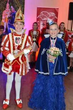 Marvin I. und Leni sind das neue Kinderprinzenpaar der Düsseldorfer Originale